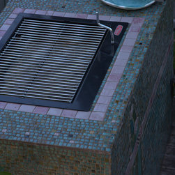 Custom fabricated and tiled barbeque - MarinaFish