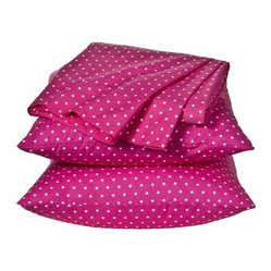 Xhilaration Dot Sheet Set, Pink