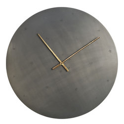 Iron Circle Clock - I don't think there is a cooler clock than this raw iron timekeeper by CB2.