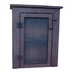 Red Fox Primitives, LLC - Colonial Pie Safe - Primitive pie safe with screen door. Great for storing those fresh apple pies!