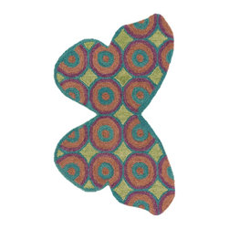 """Loloi Rugs - Loloi Rugs Skylar Collection - Teal / Multi, 2'-3"""" x 3'-9"""" - Make a big statement in small spaces with the Skylar Collection. Hooked in India of 100% wool, the designs bring colorful, bold attitude perfect for entry ways, bathrooms, and kid's rooms.�"""