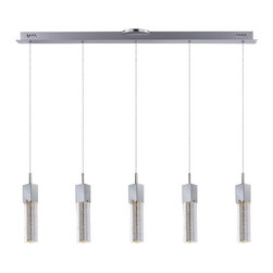 ET2 - ET2 E22764-89PC Fizz Iii Pendant Light - This forever popular collection is now better than ever. High output LEDs now illuminate the bubble glass pendants. The LED modules produce 20% more light, 90% less heat, 25 time longer life, and 75% less energy than the previous halogen lamp. You also still have dimming capability, adding a personal touch to your space.