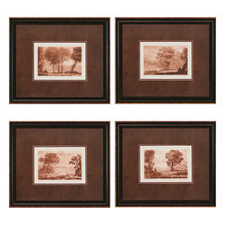Paragon - Landscapes PK/4 - Framed Art - 1441 - Each product is custom made upon order so there might be small variations from the picture displayed. No two pieces are exactly alike.