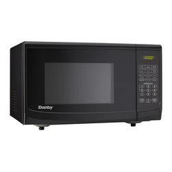 Danby - 700W Microwave 0.7Cu.Ft, 10 Power Levels, Oval Door Design - The Danby DMW7700BLDB 0.7 Cu. Ft. 700W Countertop Microwave Oven, in black is not only practical and economical, it is stylish too. It features 700 watts of cooking power with 10 power levels and a removable 10-inch glass turntable. With simple one-touch cooking for 6 popular uses plus 3 specialty programs, most meals will be as simple as selecting the right setting and waiting a few moments for your food to be done. Plus it is well suited for the dorm room, office, cottage or kitchen.0.7 cu. ft. capacity microwave oven.