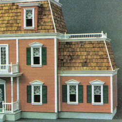 Real Good Toys - Real Good Toys Federal Addition Kit - 1 Inch Scale Multicolor - FO311-MM - Shop for Dollhouses and Dollhouse Furnishings from Hayneedle.com! Expand on your pre-existing Federalist dollhouse with the impressive Real Good Toys Federal Addition Kit - 1 Inch Scale. Marked by extraordinary attention to detail this classic American add-on boasts a front-opening design with a choice of either the left or right side. This sturdy piece includes two spacious rooms with thick upper floors and exterior walls measuring 0.375 inches thick and 0.125-inch gingerbread trim. Crafted from durable MDF it utilizes grooved sidewalls for easy one-step assembly and guaranteed durability. The floor-to-ceiling height measures an impressive 9.438 inches. Wooden shingles are provided for the roof but shutters are not included in this kit. It's suitable for use by collectors. As it includes small pieces it's not recommended for children under the age of 3. Recommended supplies include a hammer fine-toothed saw glue utility knife masking tape sandpaper paint brushes ruler and brads. About Real Good ToysBased in Barre Vt. Real Good Toys has been hand-crafting miniature homes since 1973. By designing and engineering the world's best and easiest to assemble miniature homes Real Good Toys makes dreams come true. Their commitment to exceptional detail the highest level of quality and ease of assembly make them one of the most recommended names in dollhouses. Real Good dollhouses make priceless gifts to pass on to your children and your children's children for years to come.