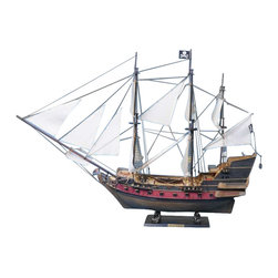 """Handcrafted Model Ships - Captain Kidd's Adventure Galley 36"""" - White Sails - Sold Fully Assembled Ready for Immediate Display -Not a Model Ship Kit"""