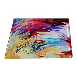 Jan Laurent - Flaming Heart Glass Coaster - Material: