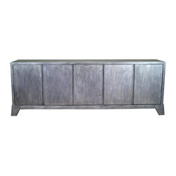 Madera Home - Madden Gray 5 Door Tall Sideboard - Our collection of sideboards and buffets are built of beautiful elm wood reclaimed from buildings and furniture pieces that graced the eclectic Qing dynasty. Each piece is meticulously hand built and finished by time-honored craftsman utilizing over 120 different processes. A gorgeous addition to your dining room, stunning under your flat panel television, or the focal point of the master suite.