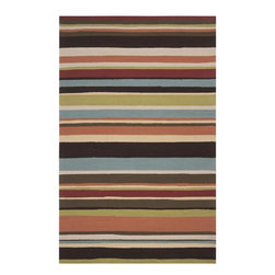 Home Decorators Collection - Bristow Area Rug - All it takes is a hose to restore the resilient Bristow Area Rug to its bold beauty. From our Indoor/Outdoor Collection, this all-weather rug features a vivid striped design. Hand-hooked of durable synthetic materials. Dries quickly and resists fading, stains and mildew. Simply spray with a hose to clean. Adding an outdoor rug pad will help your rugs dry faster and prevent mold and mildew.
