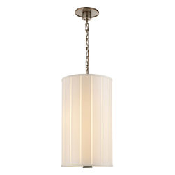 Visual Comfort & Co. - Visual Comfort & Co. BBL5033PWT-S Barbara Barry Perfect Pleat 2-Light Pendants - This 2 light Hanging Shade from the Barbara Barry Perfect Pleat collection by Visual Comfort will enhance your home with a perfect mix of form and function. The features include a Pewter finish applied by experts. This item qualifies for free shipping!