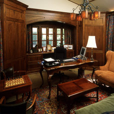 Traditional Home Office by Duxbury Architects