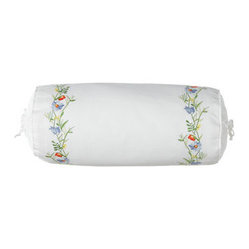 "Lauren Ralph Lauren Embroidered Pique Neckroll Pillow, 8"" x 18"""