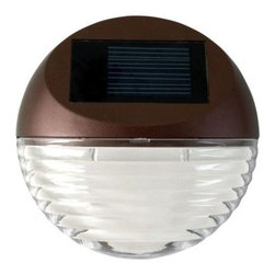 Moonrays - Moonrays Outdoor Lighting. Outdoor Bronze Solar Powered Round Mini LED Deck Ligh - Shop for Lighting & Fans at The Home Depot. The Moonrays Outdoor Bronze Solar Powered Round Mini LED Deck Light is designed to illuminate your outdoor walkways, dining areas and decks, all while adding extra safety and security to your home. Made of durable plastic, this bronze deck light mounts to any flat surface with only a few screws (included) and doesn't require any cutting into your decks or walls. The mini deck light provides a bright white light from the two 2.4-lumen LEDs, allowing you to highlight your deck railing, posts or stairs. The LED bulb will never need to be replaced and will remain cool to the touch at all times, providing safe lighting that will not burn or heat-up. Moonrays solar lights gather energy from the sun during the day, and then automatically come on at dusk to provide a pattern of light exactly where you want it. The (1) rechargeable battery (included) charges using the sun s rays and advanced Moonrays solar technology to provide light for 6 to 8-hours on a full battery charge. Let Moonrays help make your outdoor settings as livable, enjoyable and charming as any room in your home. The Moonrays 95027 Solar Powered Round Mini LED Deck Light comes with a 1-year limited warranty provided to the original purchaser, which protects this product from manufacturing defects in material, assembly and workmanship.