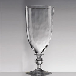 "Juliska - Juliska Octavia Large Goblet Clear - Juliska Octavia Lg. Goblet Clear. Add artistic interest to the table with this glass that has a hammered-metal effect that walks the line between cool modernism and old world craftsmanship. Dimensions: 8.5"" H Capacity: 16 oz"