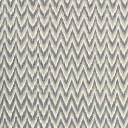 Schumacher - Adari Cotton Ikat Fabric, Stone - 2 YARD MINIMUM ORDER