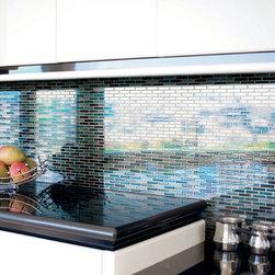 "Kitchens - Crossville Glass Blox 1/2""x1"" GB15 Blend"