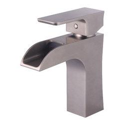 YOSEMITE HOME DECOR - Single Handle Lavatory Faucet - Single Handle Lavatory Faucet Brushed Nickel Finish no popup drain included
