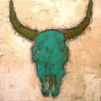 Skull by Mimi Gravel - Large format artwork - Mainly mixed medium on birch panel or canvas.