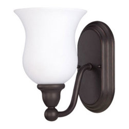 Nuvo Lighting - Glenwood Sudbury Bronze One-Light Energy Star Bath Fixture with Satin White Glas - Glenwood Sudbury Bronze One-Light Energy Star Bath Fixture with Satin White Glass Nuvo Lighting - 60/2437