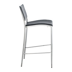 Bistro Stacking Counter Stool, Set of 4, Grey