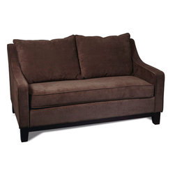 Avenue Six - Regent Loveseat in Easy Walnut - Avenue Six Regent Loveseat in Easy Walnut