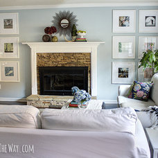 DIY picture frame wall - oversized picture frames in a collage!