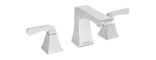 Speakman - Speakman Trave 8 Inch Widespread Faucet in Polished Chrome - The sharp, prominent edges of the Speakman Trave widespread faucet establish unique elegance in your modern bathroom decor. Utilizing both square and rounded designs, the Trave modern widespread faucet is crafted to effortlessly add bold fashion to your bathroom's current design.
