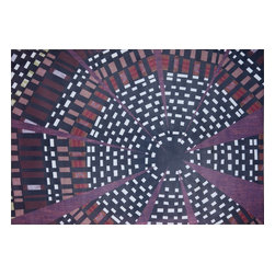 Domestic Construction - Burst Floor Mat, Large - This boldly designed floor mat would add style and function to any home entryway. Its rubber backing and slimness make it perfect for placing at a doorway. And if it gets a little dirty, just throw it in the washing machine.