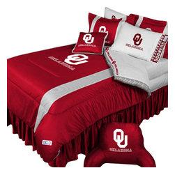Store51 LLC - NCAA Oklahoma Sooners Bedding Set College Football Bedding Set, Twin - Features: