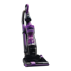 Panasonic - Bagless Upright, 12AMP 9X Cyclonic, Hepa, Quickdraw, Barefloor, Cord Reel - The Panasonic MC-UL427 Bagless Jet Force Upright Vacuum Cleaner features a lightweight design coupled with powerful performance- Jet force technology separates the dust and air via centrifugal force and a unique Hour-Glass dust container, allowing for no loss of suction- The 9x cyclonic technology utilizes 9 cylinders for multi-Cyclonic dirt separation and cleaner exhaust air- One main cylinder for large participate separation and eight smaller cylinders for finer dust separation creates an incredibly powerful system that helps maintain high performance- The HEPA media filter captures small particles such as allergens, irritants, and pollutants- A convenient switch on the nozzle shuts off the agitator for safe bare floor cleaning- Soft wheels are gentle on floors and makes turning the vacuum easy- The quick draw tools including the on-Board pet hair air turbine brush are attached to the vacuum, allowing instant access to powerful, Above-Floor cleaning up to a 10 ft reach