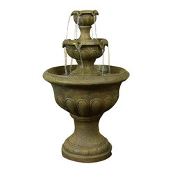 Two Tier Falls Outdoor Water Fountain