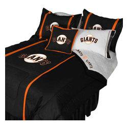 Store51 LLC - MLB San Francisco Giants Bedding Set Baseball Bed, Queen - Features: