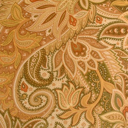PAISLEY - GREEN OLIVE - Item #1009541-549.
