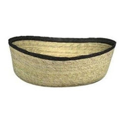 Palm Leaf Oval Basket, Black - Baskets are great for extra storage, and they add texture to a room. Put a few under a bed or in an unused corner.