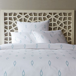 Allegra Hicks Embroidered Duvet Cover - Embroidered bedding? Yes, please. I love the simplicity and semi-playfulness of this cover. The color of the drops is gorgeous too.