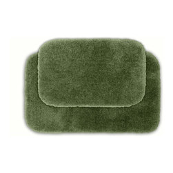 None - Posh Plush Sage Bath Rug (Set of 2) - Revel in spa-like luxury with the Posh Plush collection of bath rugs. These two machine washable green rugs feature amazingly soft, yet durable, nylon plush with non-skid latex backing for safety.