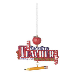 Midwest CBK - Teachers Motivate Christmas Tree Ornament - School Teach Winter Holiday Gift - Teachers Motivate Christmas Ornament