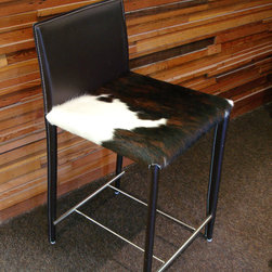 Tri-colored Cowhide Stools - photo: J.D. Perkin