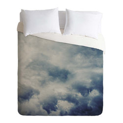 Daydreams Duvet Cover - Let your sweet daydreams transform your nights with the help of inspirational clouds. What could make you happier than walking into a room brightened by a beautiful sky motif? Falling asleep under it. Trust me. Our lightweight cover is ready for your most snuggly duvet.