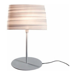 EcoFirstArt - BANDAGE Table Light - The bandage effect on the shade of this table lamp makes for an intriguing pattern for light to play off of. It was inspired by the Roman goddess of good fortune and the Italian symbol of love, trust and faith. We'd like to think that this wonderful lamp will bring all of these great qualities (and more) to your home.