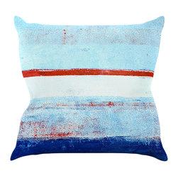 "Kess InHouse - CarolLynn Tice ""Stripes"" Blue White Throw Pillow (20"" x 20"") - Rest among the art you love. Transform your hang out room into a hip gallery, that's also comfortable. With this pillow you can create an environment that reflects your unique style. It's amazing what a throw pillow can do to complete a room. (Kess InHouse is not responsible for pillow fighting that may occur as the result of creative stimulation)."