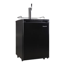 EdgeStar - EdgeStar Black Full Size Kegerator with Digital Display - Keep your guests refreshingly cooled with this full sized refrigerator for your keg by EdgeStar. This kegerator arrives with everything needed to tap a keg plus a few extras. All you need to do is supply the keg.