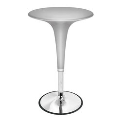 Lumisource - Retro Gelato Bar Table w Adjustable Height - Retro design combined with adjustable height hydraulics make this bar table functional as well as good looking. Extends from 31 to 40 inches high. Made of chrome and plastic. Picture in Silver. Indoor use only. 26 in. W x 24 in. L x 26 in. H (30 lbs.)