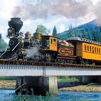 "Durango Express Puzzle - 500 Piece Jigsaw PuzzleDepicting an American railway steam locomotive and passenger car, this scenic lithograph will have you hearing the call of ""All Aboard!"".  A Best Selling 2009 Summer/Fall Collection Puzzle � Sherwood Hoffman"
