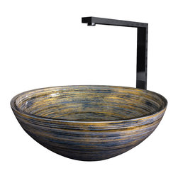 "MaestroBath - Graffiti Glass Vessel Bathroom Sink, Black Silver Ivory - Colors never looked so beautifully random on a wash basin! Inspired by embedding the philosophy of the fashion world into product research, this crystal basin will stimulate your eye for beauty in every glance. The material, perfected by the ""Florence Glass Atelier"" project, allows for colors and textures to be embedded within the crystal, making it sturdy, hygienic and of course, fashionably beautiful. The Graffiti product line is the perfect marriage of form and texture. Here is more information related to MaestroBath: Luxury Handmade Italian Vessel Sinks, Modern and Contemporary Kitchen and Bath Fixtures. Maestrobath delivers contemporary and modern handmade Italian bathroom sinks and designer faucets to clients with taste of luxury. It carries a wide selection of beautiful and unique Travertine, Crystal and Glass vessel sinks in variety of colors and styles. Maestrobath services homeowners and designers Globally. Furthermore, it has dealer partners across United States and international countries."