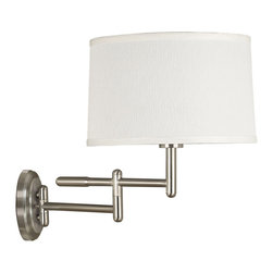 Kenroy - Kenroy 20942BS Theta Wall Swing Arm Lamp - Kenroy 20942BS Theta Wall Swing Arm Lamp