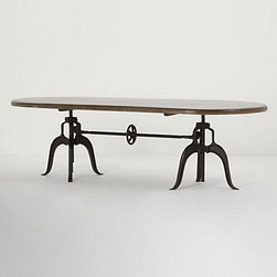 """Crank Span Dining Table - This table has industrial-chic written all over it. It's pretty pricey, but it's still a major """"wow"""" piece."""