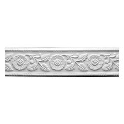 Renovators Supply - Cornice White Urethane Ivy leaf Cornice | 12336 - Cornices: Made of virtually indestructible high-density urethane our cornice is cast from steel molds guaranteeing the highest quality on the market. High-precision steel molds provide a higher quality pattern consistency, design clarity and overall strength and durability. Lightweight they are easily installed with no special skills. Unlike plaster or wood urethane is resistant to cracking, warping or peeling.  Factory-primed our cornice is ready for finishing.  Measures 4 3/4 inch H x 94 inch L.