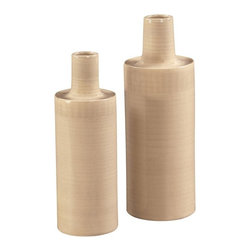 Howard Elliott - Cylinder Cream Crosshatch Vases - Set of 2 Multicolor - 34056 - Shop for Decorative Bowls and Vases from Hayneedle.com! About the Howard Elliott CollectionThe Howard Elliott Collection is one of the premiere manufacturers of decorative mirrors and accessories in the home furnishings industry. Howard Elliott offers innovative designs in a wide variety of styles and the company prides itself on its high standards and quality. No matter your style the Howard Elliott Collection offers pieces that are sure to add sophistication and luxury to your decor.