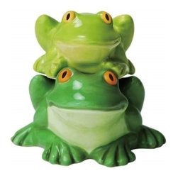 Westland - 2.75 Inch Smiling Frogs Getting Froggity Salt and Pepper Shakers - This gorgeous 2.75 Inch Smiling Frogs Getting Froggity Salt and Pepper Shakers has the finest details and highest quality you will find anywhere! 2.75 Inch Smiling Frogs Getting Froggity Salt and Pepper Shakers is truly remarkable.